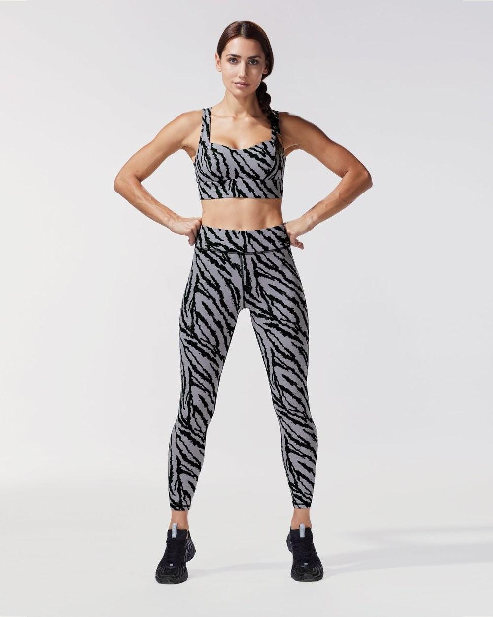 Grey Marble Leopard Print Legging