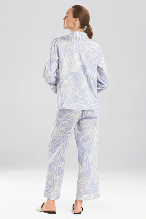 Chambray Zebra - Cotton Sateen Notch Pyjama