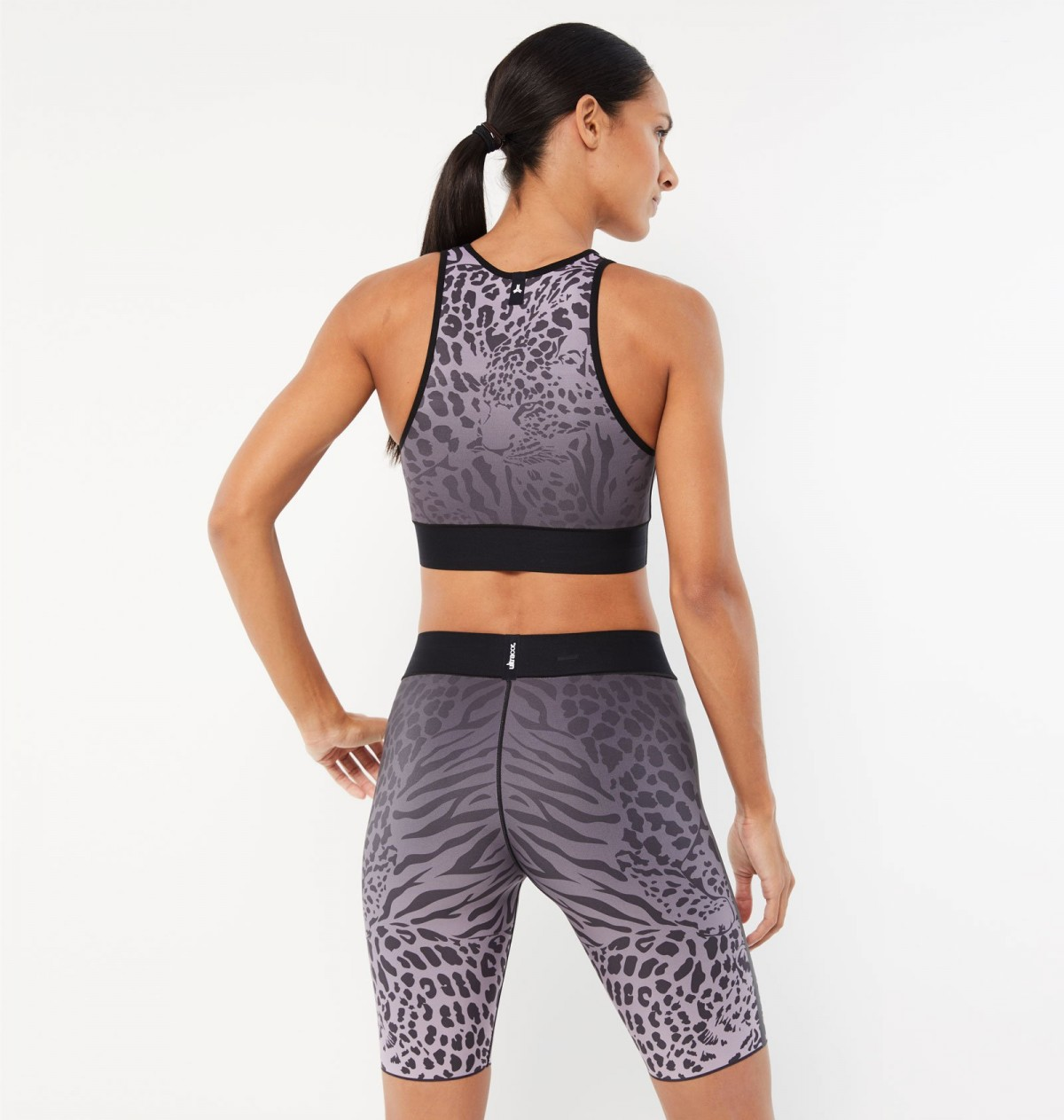 Lavender and Graphite Panthera Crop Top
