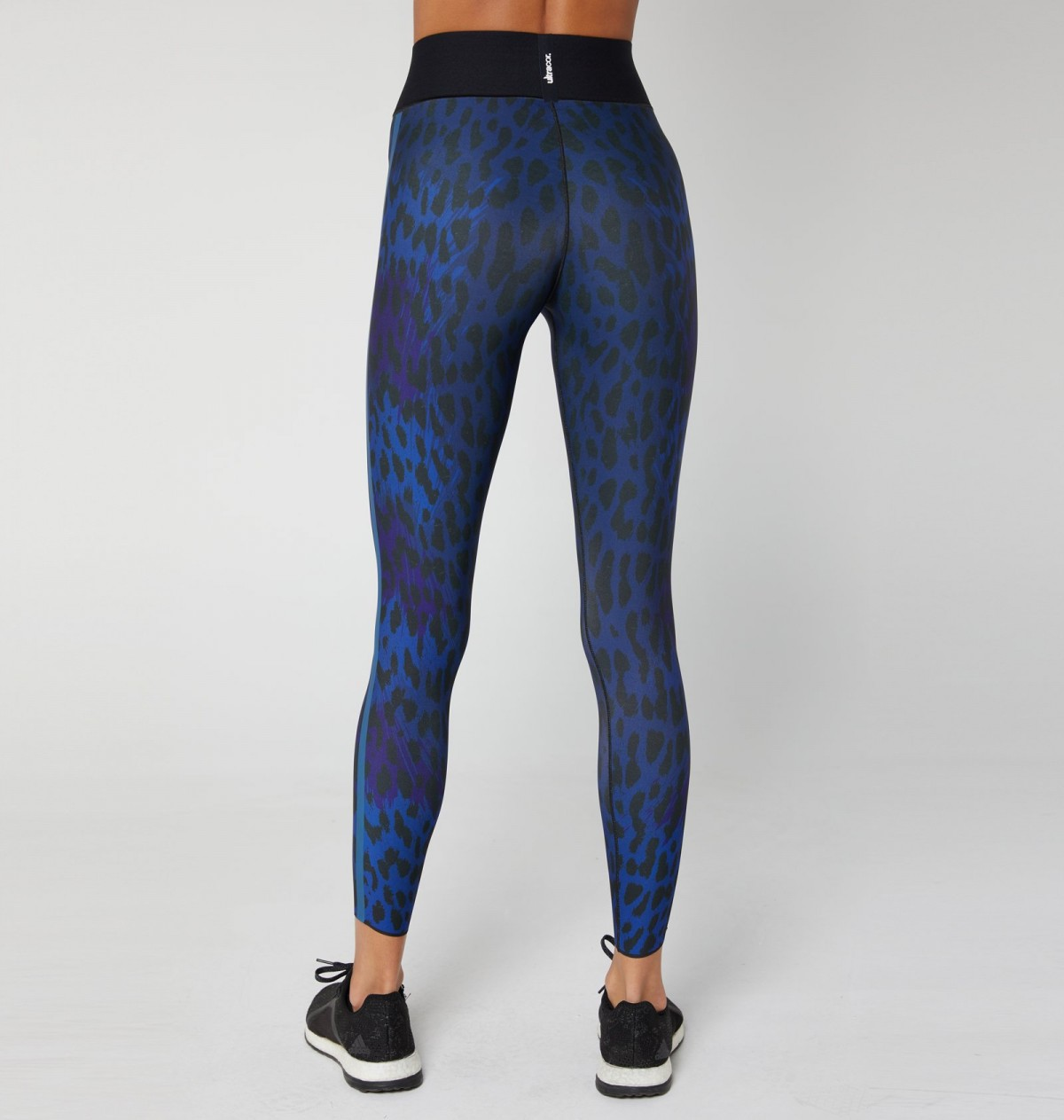 Cobalt Print and Blue Metal Ocelot Legging