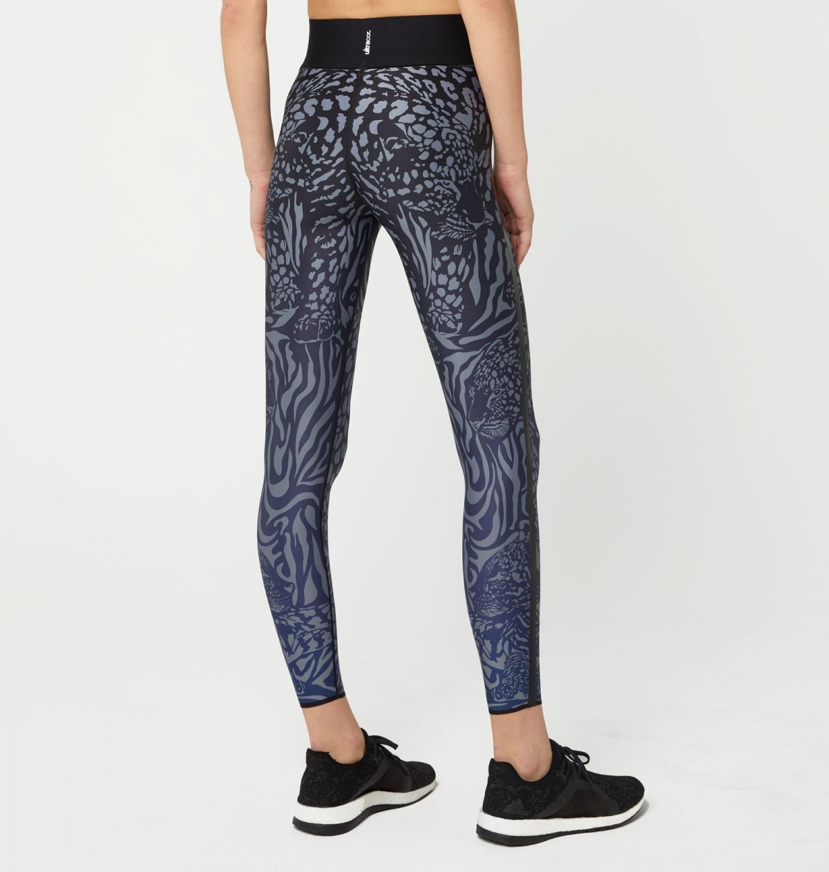 Dark Blue and Patent Nero Panthera Legging