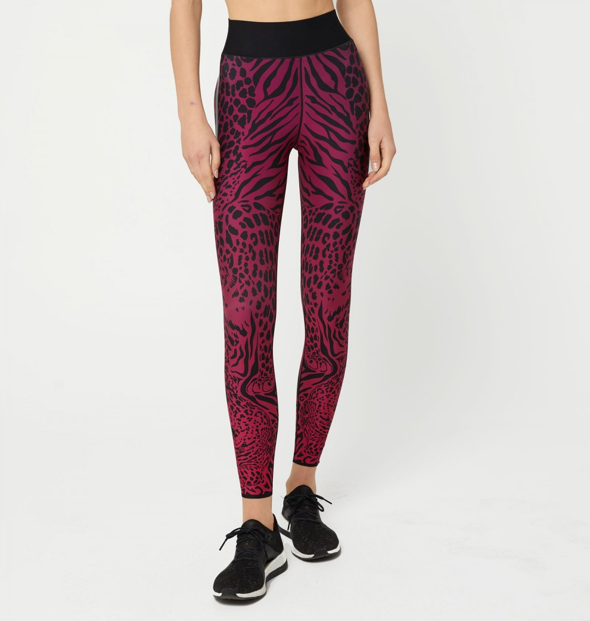 Orchid and Patent Nero Panthera Legging