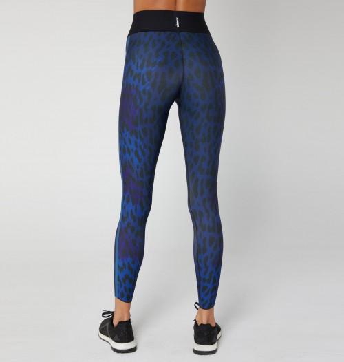 Cobalt Print and Blue Metal Ocelot Legging