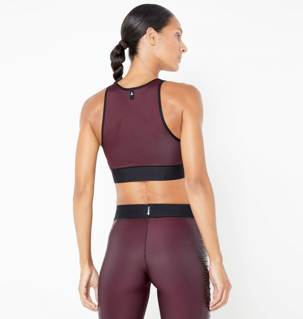 Garnet and Transparent Lucido Altitude Crocodile Crop Top