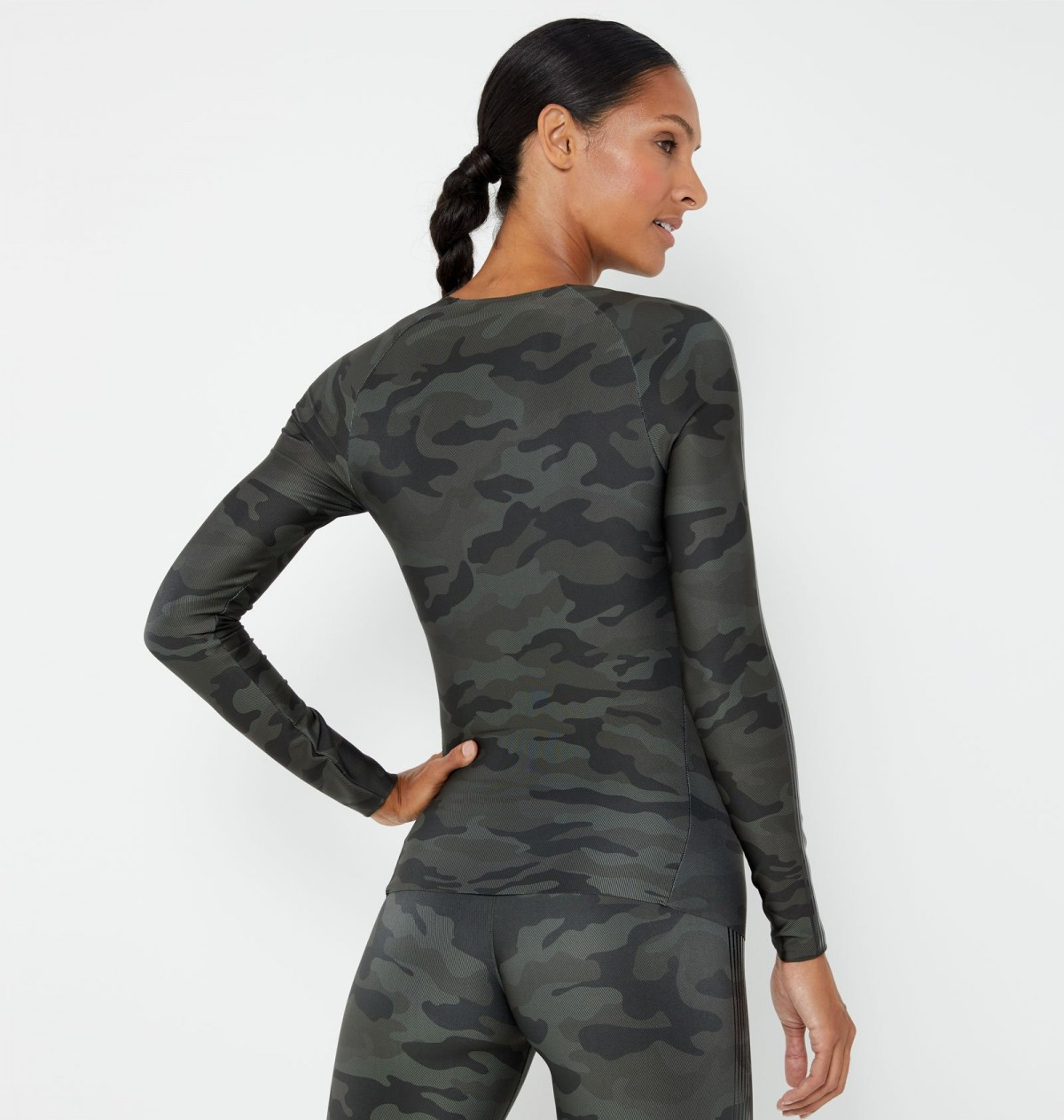 Olive and Patent Nero Velocity Micro Camo Long Sleeve