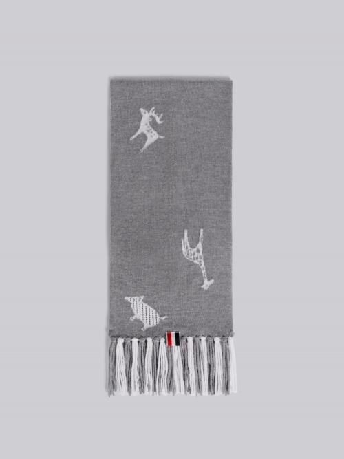 Light Grey Wool Scarf