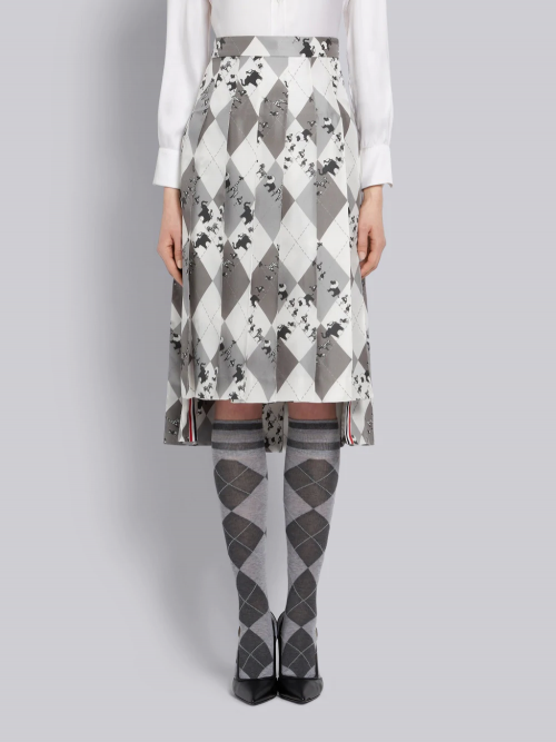Elegant Medium Grey Pleated Skirt