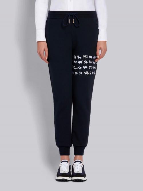 Navy Cotton Sweatpants