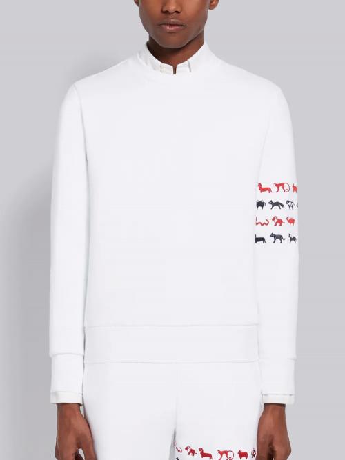Tricolor White Crewneck Sweatshirt