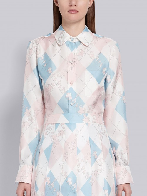 Exclusive Light Blue and Pink Shirt