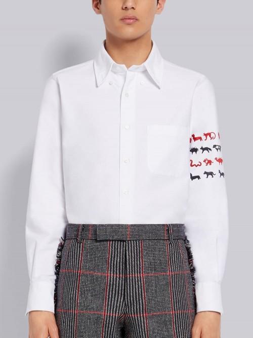 Elegant White Straight Shirt