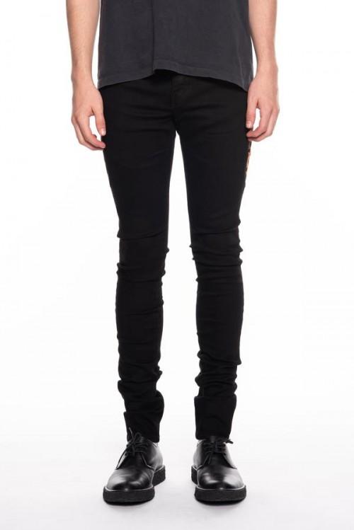 Black Pants with Leopard Print