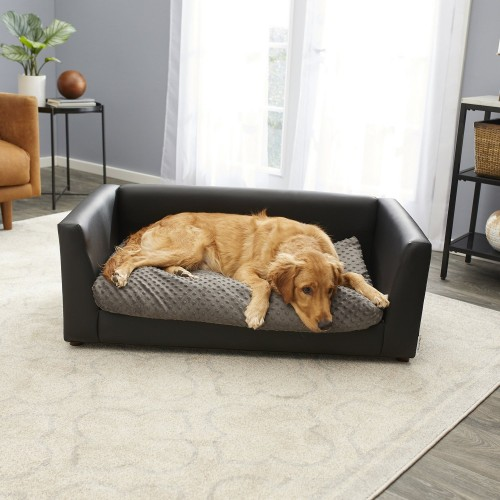 Luxurious Charcoal Sofa Dog Bed