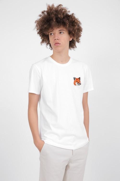 Splendid White T-Shirt with Fox Head Patch