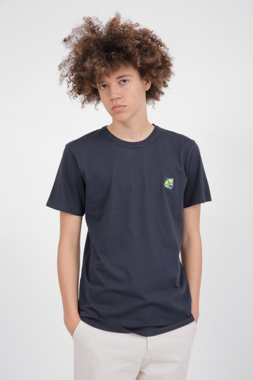 Classic Navy T-Shirt with Fox Head Patch