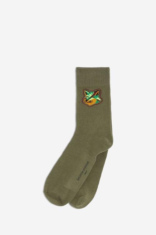 Nice Neon Khaki Socks