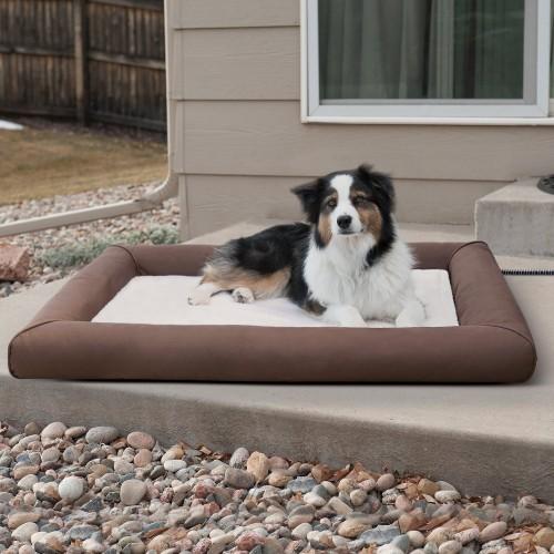 Cozy Brown Outdoor Cat & Dog Bed