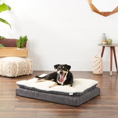Cozy Gray Orthopedic Dog Bed