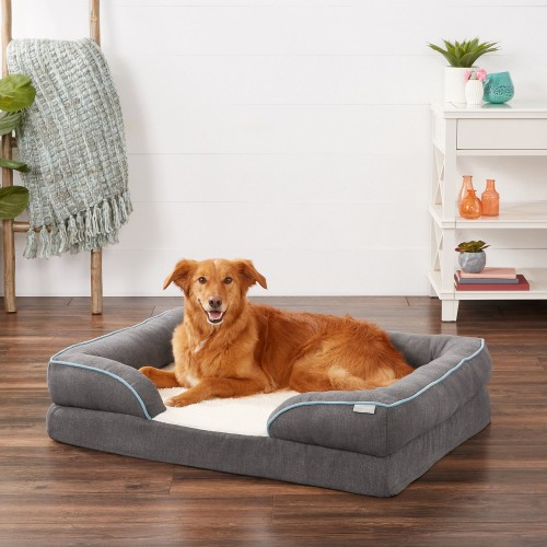 Gray Cat & Dog Bed with Removable Cover
