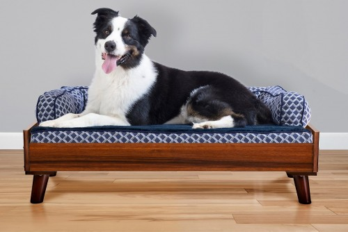 Walnut Elegant Cat & Dog Bed Frame