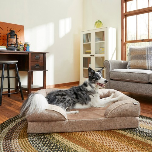 Beige Cat & Dog Bed with Removable Cover