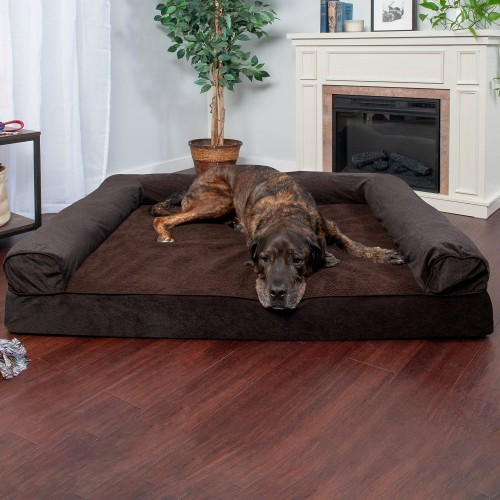 Coffee Dog Bed with Removable Cover