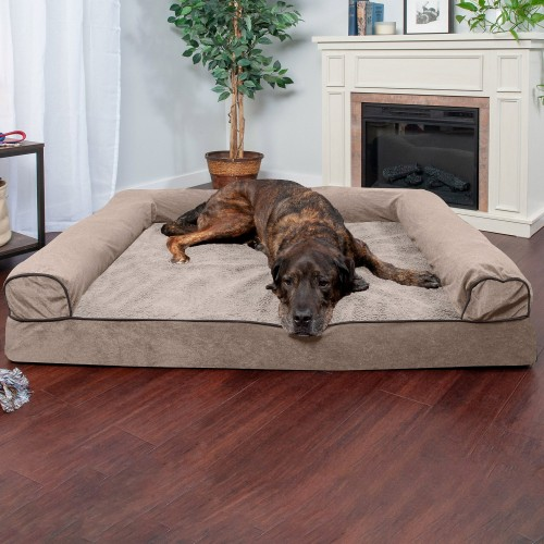 Cream Dog Bed with Removable Cover