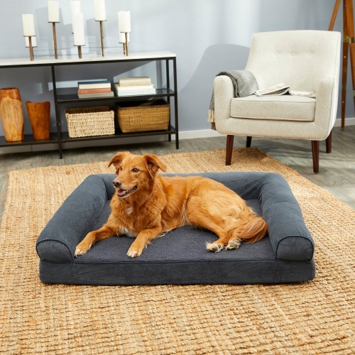 Classic Orion Blue Dog Bed with Removable Cover