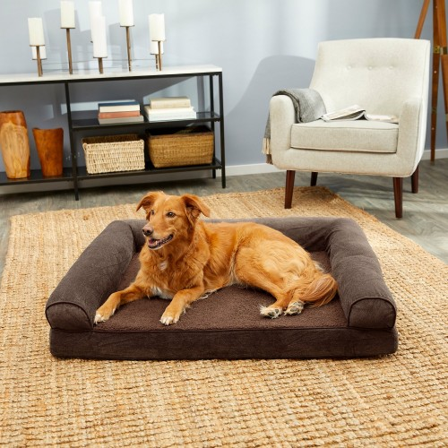 Standard Coffee Dog Bed with Removable Cover
