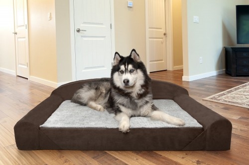 French Roast Orthopedic Cat & Dog Bed with Removable Cover