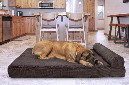 Orthopedic Cat & Dog Bed in Dark Espresso