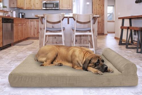 Orthopedic Cat & Dog Bed in Sandstone