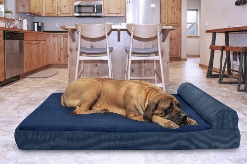 Orthopedic Cat & Dog Bed in Navy Blue