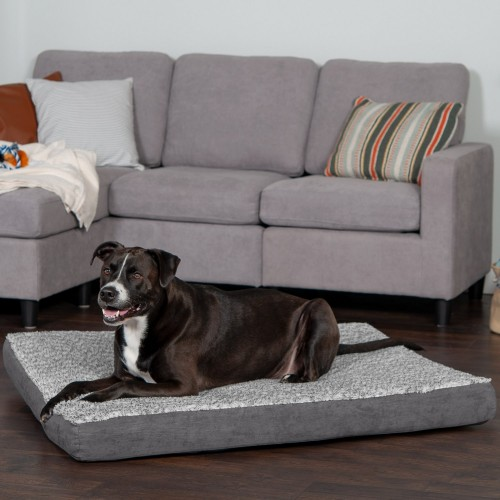 Stone Gray Mattress with Memory Foam Dog & Cat