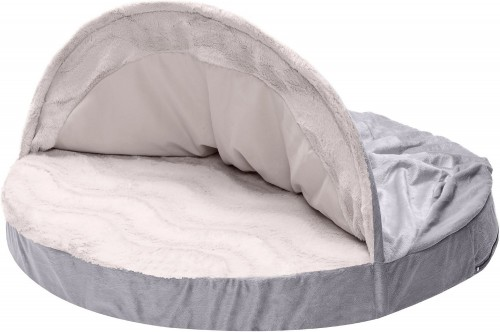 Dog & Cat Bed with Memory Foam in Dark Gray