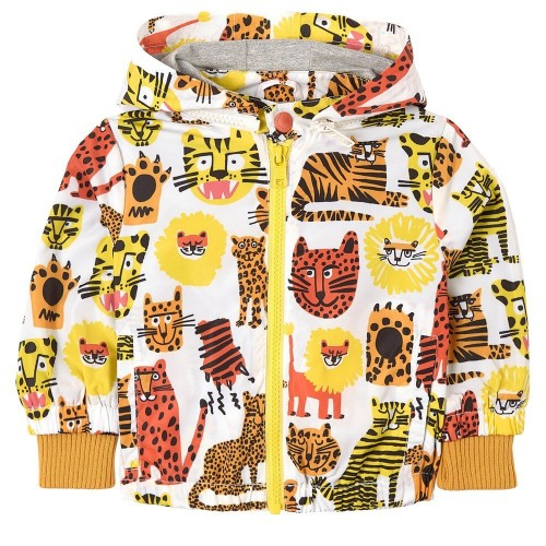 White Jacket with Cats Print