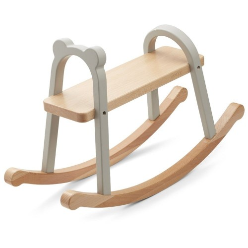 Wood Rocking Horse in Blue