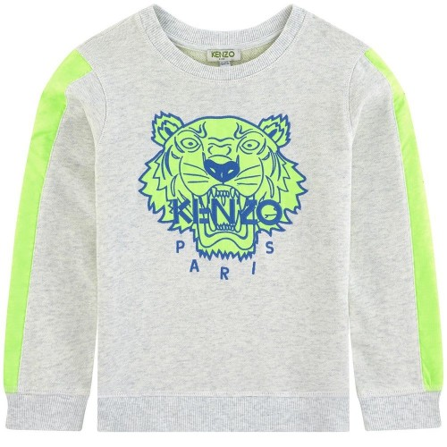 Grey and Neon Yellow Tiger Sweatshirt