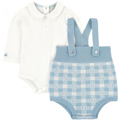 Cute Romper and Baby Body in Light Blue