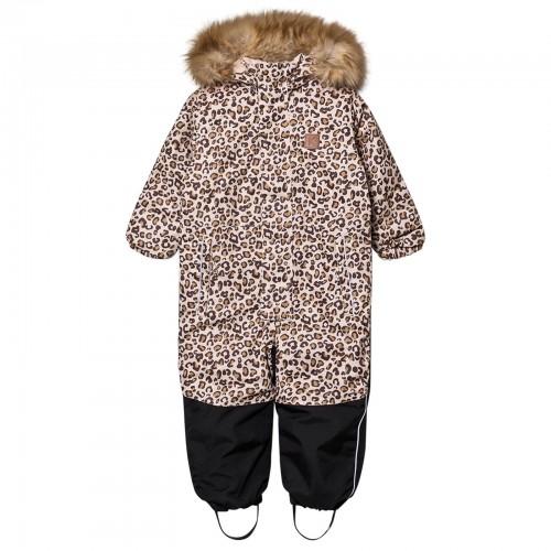 Warm Kid's Leopard Snowsuit