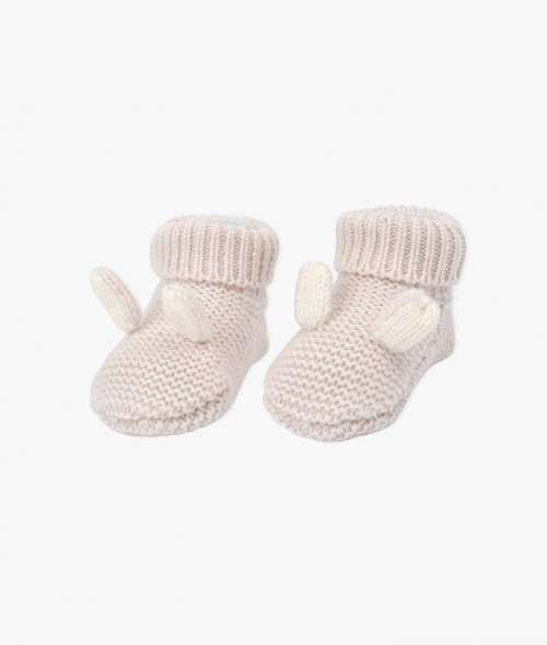 Cute Light Pink Cashmere Bunny Footies