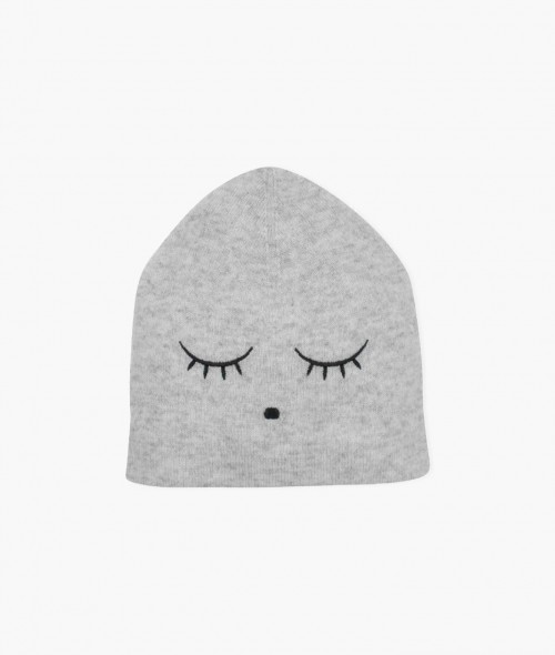 Grey Cashmere Baby or Kids Hat