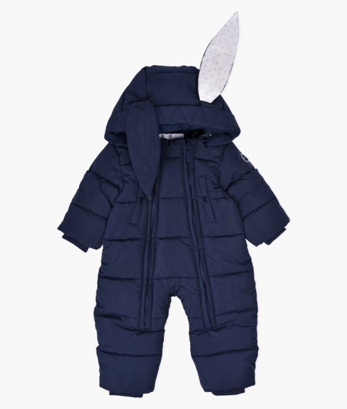 Navy Winter Bunny Overall