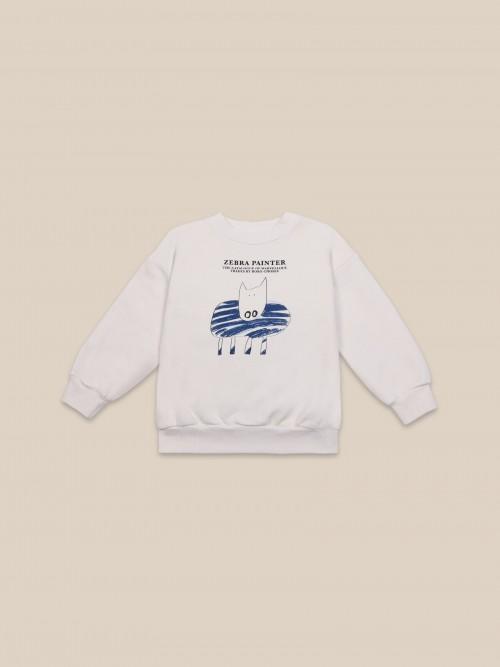 White Round Neck Sweatshirt