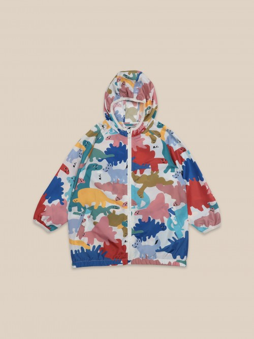 Raincoat Outwear with Dinos Print