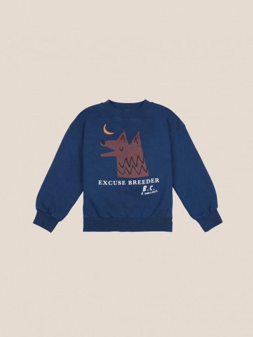 Navy Moon Wolf Sweatshirt