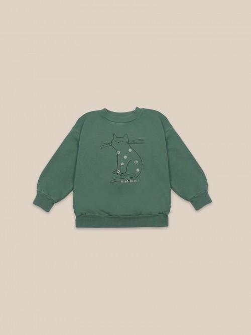 Green Round Neck Sweatshirt