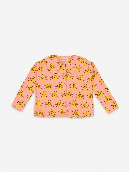 Long Sleeve Shirt with Yellow Cats