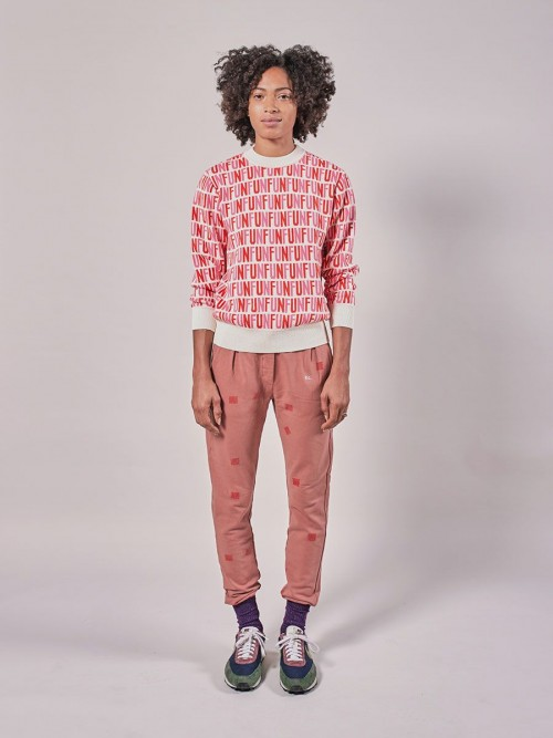 Long Sleeve Jumper with Pink Print