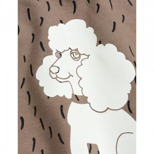 Brown Sweatshirt with Poodle Print